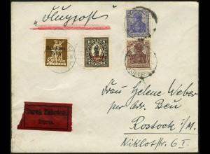 Dt. Reich, S 10, auf Luftpost-Eil-Brief (4939)