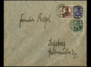 Dt. Reich, W 14, portogerecht auf Fern-Brief, Mi. 45,- (4941)