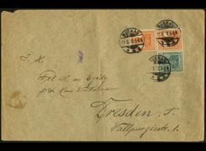 Dt. Reich, W 5, portogerecht auf Fern-Brief, Mi. 120,- (4951)