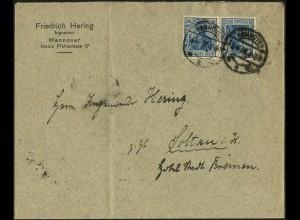 Dt. Reich, K 2 portogerechte Einzelfrankatur, Mi.-Handbuch 180,- (4996)