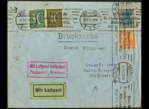 Dt. Reich, W 19 + S 17 auf Luftpost-Drucksache, Mi.-Handbuch 140,- (5029)