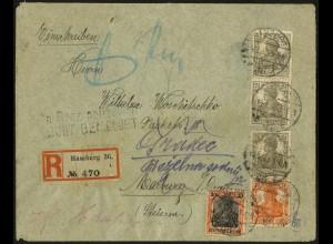 Dt. Reich, S 11 b , portogerecht, Sondertarif auf Auslands-R-Brief (5086)