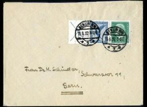 Dt. Reich, W 21.1, portogerechter Auslands-Brief, Mi. 120,- (5159)