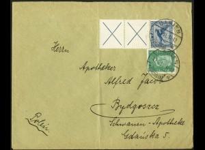 Dt. Reich, W 21.2, portogerechter Auslands-Brief, Mi. 280,- (5169)