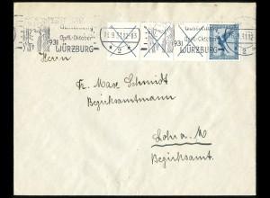 Dt. Reich, W 21.3, Einzelfrankatur, vollst. Zähnung, Mi.-Handbuch 190,- (5185)