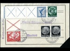 Dt. Reich, RL 15.2 + S 114 portogerechter AdressAufkleber, Mi. 650,- (5198)