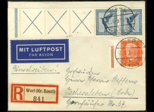 Dt. Reich, RL 15.2, portogerecht auf Lp.-R-Brief, Mi. 500,- (5206)