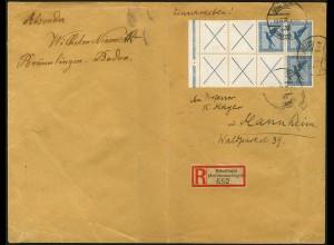 Dt. Reich, RL 15.1 + RL 15.2, portogerchter R-Brief, Mi.-Handbuch 2450,- (5217)