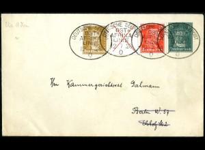 Dt. Reich, W 23, auf Seepost-Brief 'Ostafrika-Linie', Mi.-Handbuch 220,- (5222)