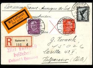 Dt. Reich, W 23, portogerchter Auslands-Brief, Mi. 400,- (5228)