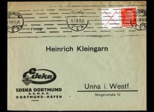 Dt. Reich, W 23, portogerechte Einzelfrankatur, Mi.-Handbuch 450,- (5233)