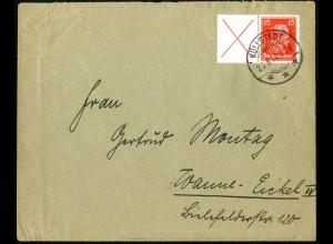 Dt. Reich, W 23, portogerechte Einzelfrankatur, Mi.-Handbuch 450,- (5236)