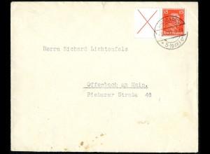 Dt. Reich, W 23, portogerechte Einzelfrankatur, Mi.-Handbuch 450,- (5245)