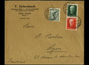 Dt. Reich, S 36, auf Auslands-Brief, Mi.-Handbuch 50,- (5270)