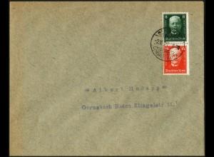 Dt. Reich, S 36, Einzelfrankatur auf Orts-Brief, Mi.-Handbuch 50,- (5272)