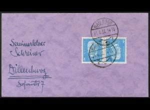 Dt. Reich, K 9, Einzelfrankatur auf Fern-Karte, Mi.-Handbuch 45,- (5291)