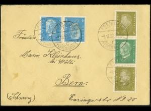 Dt. Reich, K 9 + S 45, portogerecht auf Auslands-Brief, Mi. 150,- (5292)