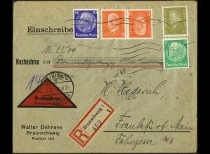 Dt. Reich, K 13, portogerecht auf Nachnahme-Brief, Mi. 110,- (5297)