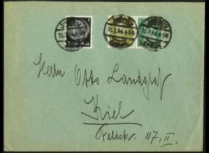 Dt. Reich, K 11, portogerecht auf Fern-Brief, Mi. 100,- (5305)