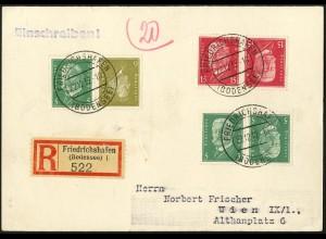 Dt. Reich, K 14, K 10, K 11, Auslands-R-Karte, Mi.-Handbuch 140,- (5308)