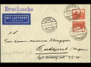 Dt. Reich, SK 16, unterfrankiert auf Auslands-Drucksache, Mi. MiF 50,-
