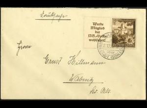 Dt. Reich, W 135, portogerechte Einzelfrankatur, Mi.-Handbuch 65,- (5522)