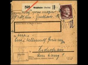 Dt. Reich, EG-Str. 1 (4), auf Paket-Karte (5548)