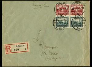 Dt. Reich, S 78 (2), Mehrfachfrankatur auf Orts-R-Brief, Mi. 220,- (5905)