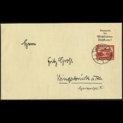 Dt. Reich, S 84, portogerechte Einzelfrankatur, Mi.-Handbuch 550,- (5916)