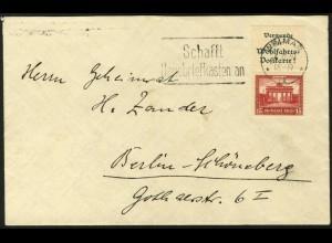 Dt. Reich, S 84, portogerechte Einzelfrankatur, Mi.-Handbuch 550,- (5918)
