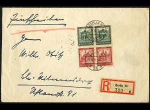 Dt. Reich, S 88 (2), Mehrfachfrankatur auf Orts-R-Brief (5955)