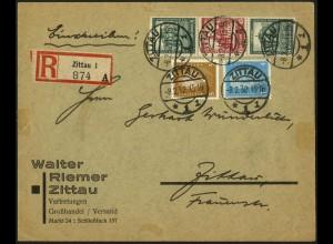 Dt. Reich, S 89, portogerecht auf Orts-R-Brief, Mi. 250,- (5959)