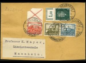 Dt. Reich, W 41, portogerecht auf Streifband-Drucksache (5994)