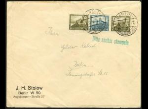 Dt. Reich, W 42, Einzelfrankatur auf Orts-Brief (6016)