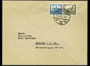 Dt. Reich, W 43, Einzelfrankatur auf Orts-Brief, Mi. für MiF 40,-