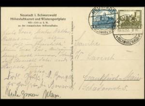 Dt. Reich, W 43, Einzelfrankatur auf Ansichtskarte, Mi. für MiF 40,-