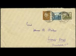 Dt. Reich, W 43, auf Fern-Brief, Mi. für Brief 40,-