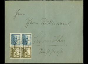 Dt. Reich, W 43 (2), Mehrfachfrankatur auf Fern-Brief