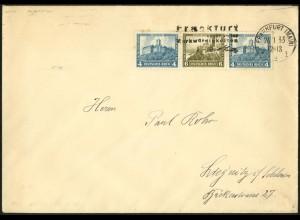 Dt. Reich, W 44, Einzelfrankatur auf Fern-Brief, Mi. für MiF 50,-