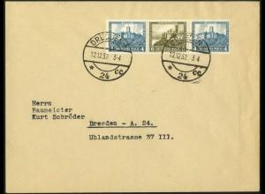Dt. Reich, W 44, Einzelfrankatur auf Orts-Brief, Mi. für MiF 50,-