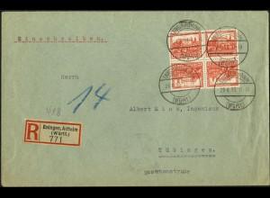Dt. Reich, SK 16 (2), Mehrfachfrankatur auf R-Brief, Mi.-Handbuch 50,- (6087)