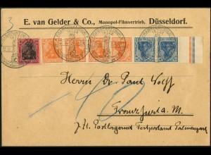 Dt. Reich, WK 1, unterfrankierter Orts-Brief, Nachgebühr, Mi. 1000,- (6090)