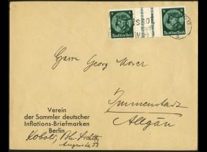 Dt. Reich, WZ 9, portogerechte Einzelfrankatur, Mi.-Handbuch 100,- (6164)
