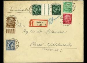 Dt. Reich, WZ 9 + S 106, auf R-Brief, Mi.-Handbuch 90,- (6172)