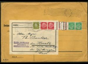 Dt. Reich, KZ 17, portogerechter Fern-Brief, Mi. 120,- (6245)