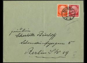 Dt. Reich, W 46, Einzelfrankatur auf Fern-Brief, Mi.-Handbuch 70,- (6329)
