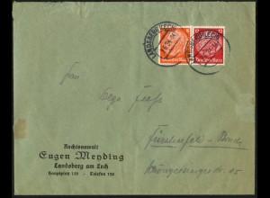 Dt. Reich, W 46, Einzelfrankatur auf Fern-Brief, Mi.-Handbuch 70,- (6330)