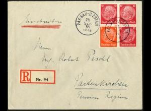 Dt. Reich, W 46, auf R-Brief, Mi.-Handbuch 70,- (6336)