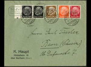 Dt. Reich, W 46, portogerecht auf Auslands-Brief, Mi. 100,- (6339)