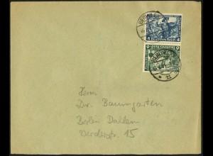 Dt. Reich, SK 19, Einzelfrankatur auf Orts-Brief, Mi.-Handbuch 120,- (6362)